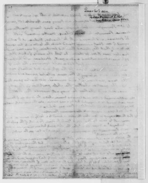 Thomas Jefferson, 1767-73, Opinion on J. Quarles Law Case Regarding William Kenney Estate