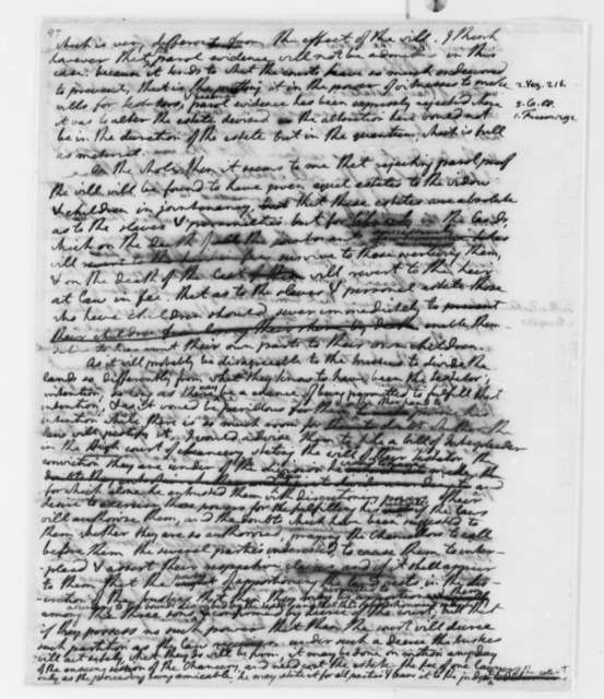 Thomas Jefferson, 1767-73, Opinion on the Estate of B. Watkins Law Case