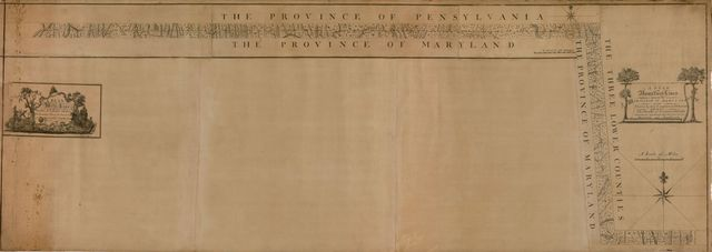 A plan of the west line or parallel of latitude, which is the boundary between the provinces of Maryland and Pensylvania : a plan of the boundary lines between the province of Maryland and the Three Lower Counties on Delaware with part of the parallel of latitude which is the boundary between the provinces of Maryland and Pennsylvania /