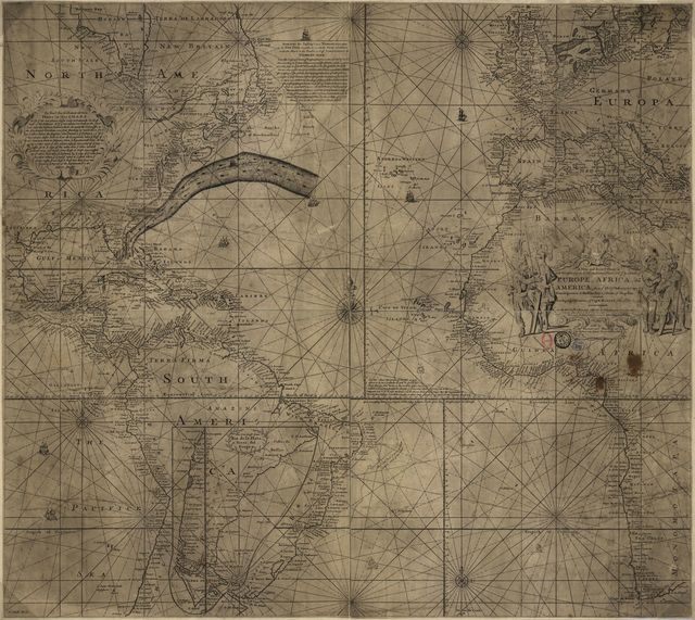 [Franklin-Folger chart of the Gulf Stream].