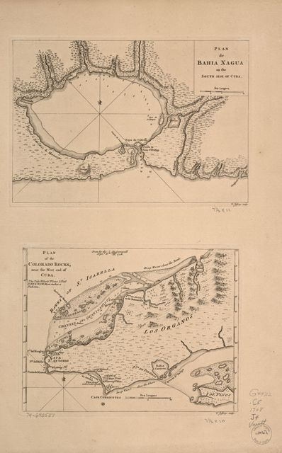 Plan de Bahía Xagua on the south side of Cuba; Plan of the Colorado Rocks, near the west end of Cuba /