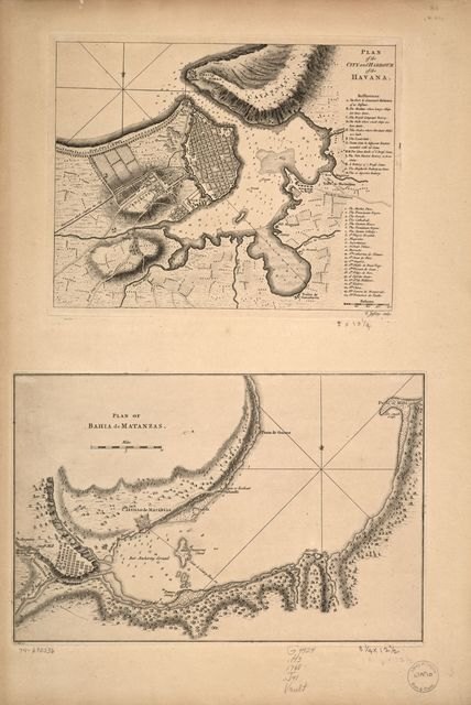 Plan of the city and harbour of the Havana. Plan of Bahía de Matanzas.