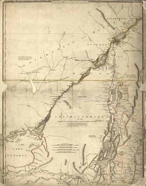 [The provinces of New York, and New Jersey, with part of Pensilvania, and the government's of Trois Rivières, and Montreal: