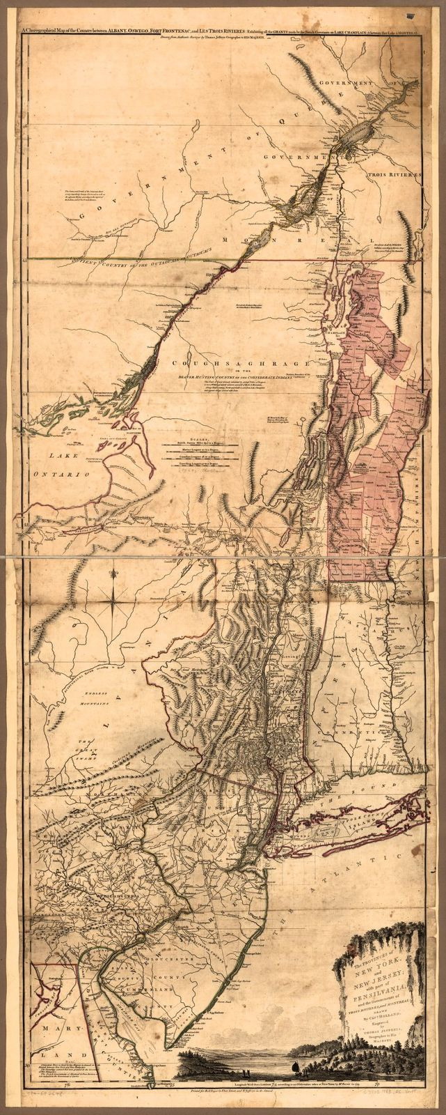 The provinces of New York, and New Jersey; with part of Pensilvania, and the governments of Trois Rivières, and Montreal: