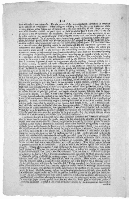 An answer to the citizen's address to the public, published the 18th instant by A Plebeian. To the public. [Signed] A Plebeian [New York. 1769.