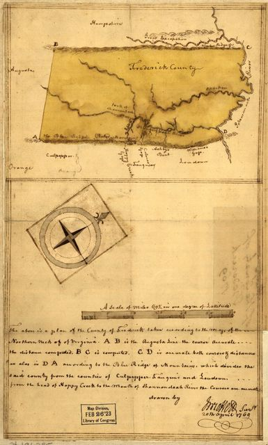 Map of the county of Frederick, 1769.