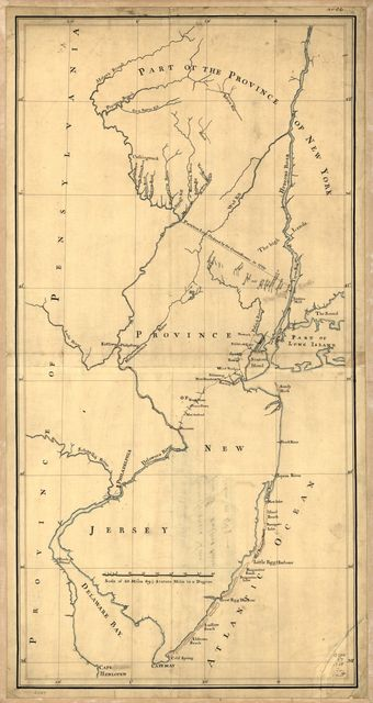 New York & New Jersey commissioners line from 41⁰ on Hudson's River taken in 1769.