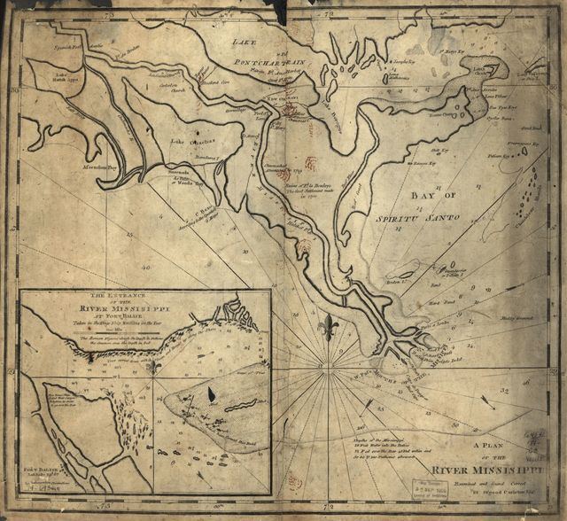 A plan of the river Missisippi.