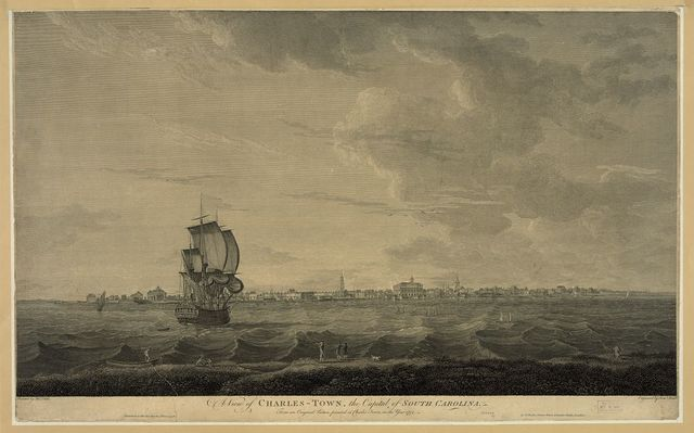 A view of Charles-Town, the capital of South Carolina / painted by Thos. Leitch ; engraved by Saml. Smith.