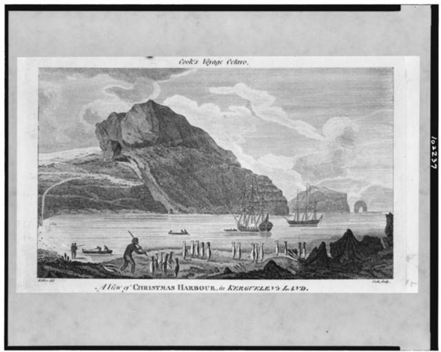 A View of Christmas Harbour, in Kerguelen's Land / Webber del. ; Cook sculp.