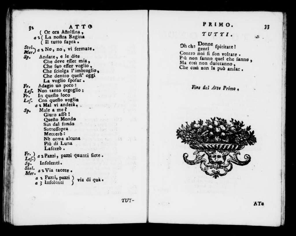Di Americani (ballo). Scenario. Scenario. Italian. 1770