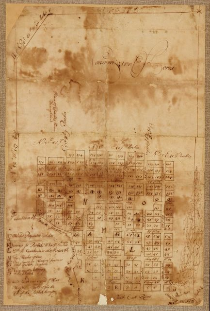 Plan of Charles Town, Maryland.