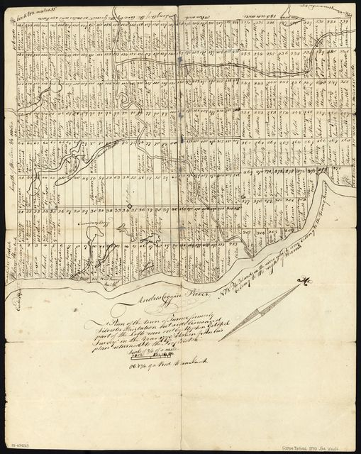 Plan of the Town of Turner, formerly Silvester Plantation : out side lines and part of the lotts ran out /
