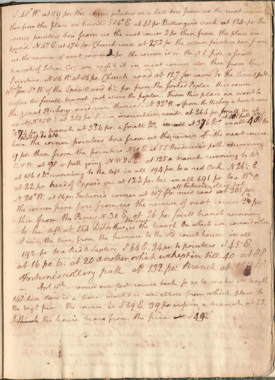 Surveyor's notes