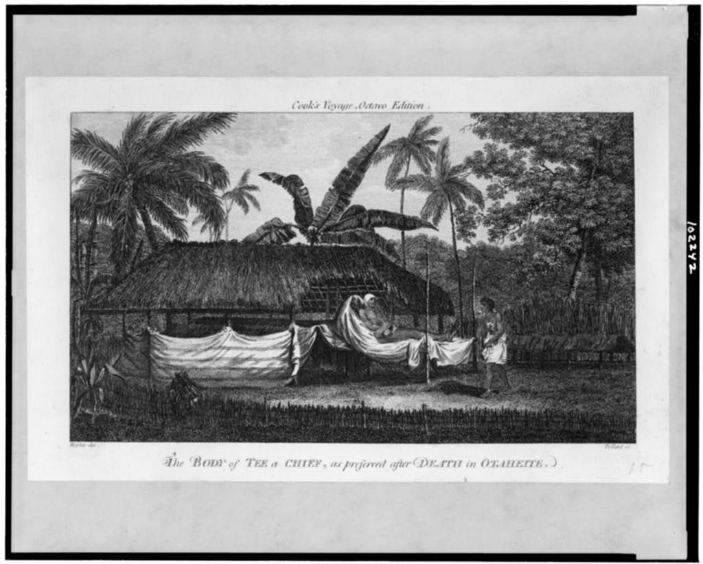 The Body of Tee, a chief, as preserved after death in Otaheite / Webber del. ; Pollard sc.