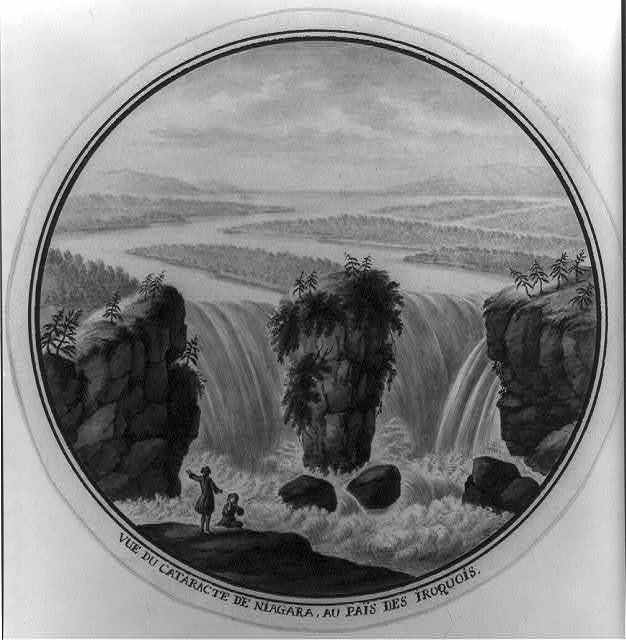 Vue du cataracte de Niagara, au pais des Iroquois / Antoine Le Loup fecit.