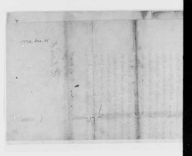 William Nelson to Thomas Jefferson, December 15, 1770, Printed Commission as Commander of the Albemarle County, Virginia, Militia