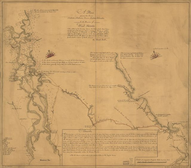 A plan of part of the rivers Tombecbe, Alabama, Tensa, Perdido, & Scambia in the province of West Florida; with a sketch of the boundary between the nation of upper Creek Indians and that part of the province which is contigious thereto, as settled at the congresses at Pensacola in the years 1765 & 1771.