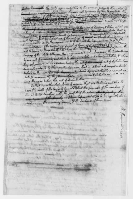 Thomas Jefferson, November 21, 1771, Opinion on Nathaniel Burwell Law Case Regarding Carter Burwell Estate