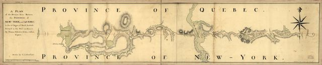 A plan of the division line between the provinces of New-York and Quebec. In the 45th degree of north latitude. Survey'd in the year 1771 & 1772.