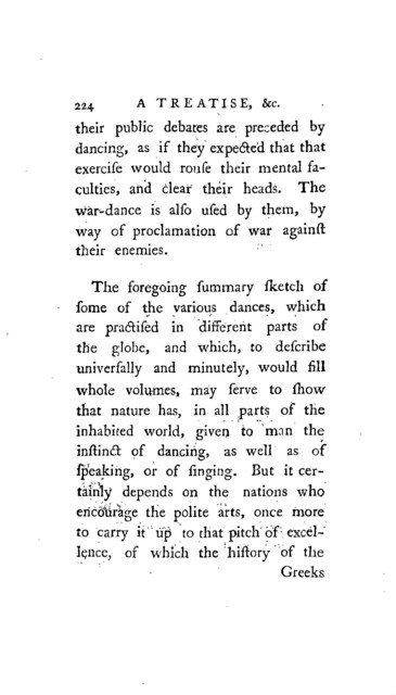 A treatise on the art of dancing.
