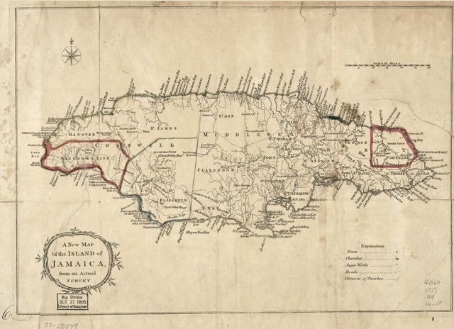 A New map of the island of Jamaica, from an actual survey.
