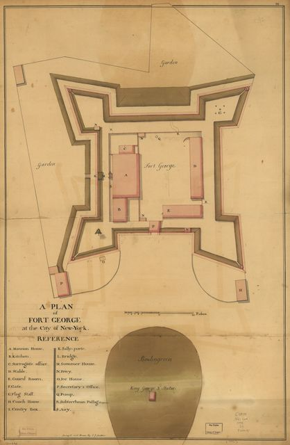 A plan of Fort George at the city of New-York.