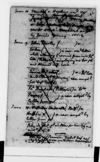 Thomas Jefferson, 1773, Account Book