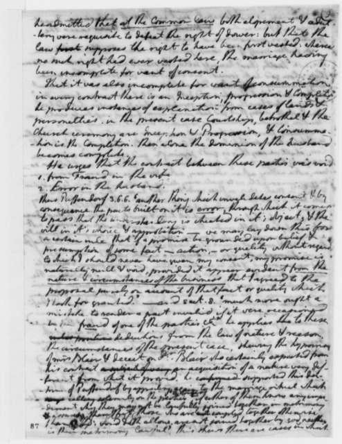 Thomas Jefferson, November 1773, Anne Blair vs. John Blair Law Case