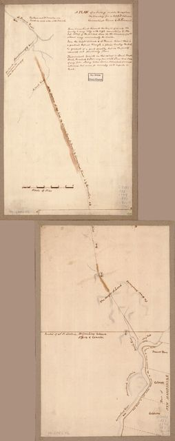 A plan of a survey made to explore the country for a road between Connecticut River & St. Francis.