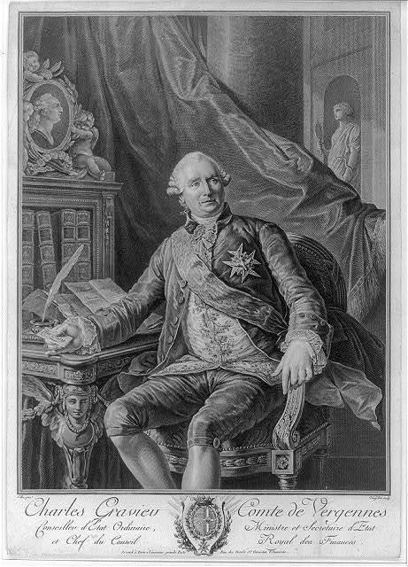 Charles Gravier comte de Vergennes - conseiller d'Etat ordinaire, ministre et secretaire d'Etat et chef du conseil royal des finances / Callet pinxt ; Vangelisti sculp.