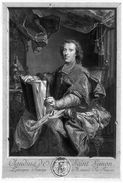 Claudius de Saint Simon, Episcopus Princeps Metensis par Franciae / peint par Hyathe. Rigaud ; gravé par J. Daullé.