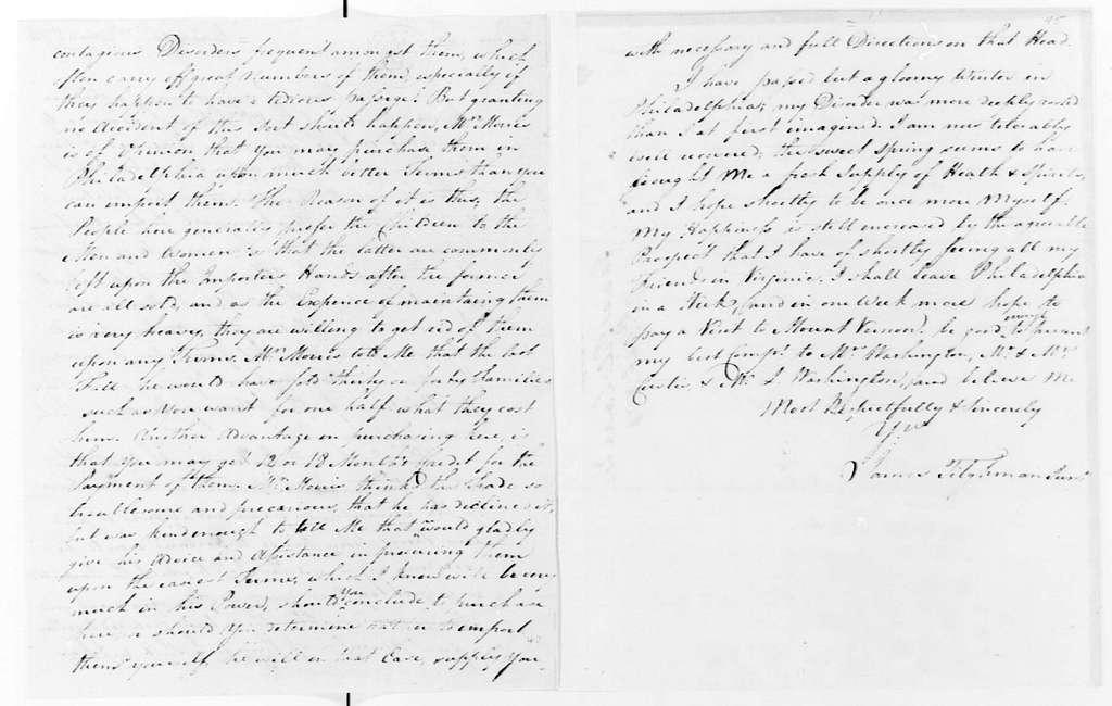 George Washington Papers, Series 4, General Correspondence: James Tilghman Jr. to George Washington, April 7, 1774