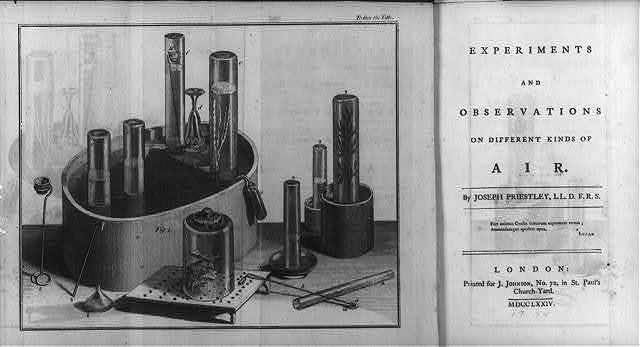 [Illustrations of experiments proving air is a compressed substance and title page]