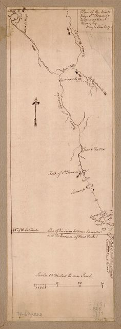 Plan of the route from St. Francis to Connecticut River,