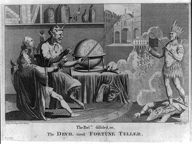 The Parlmt. dissolved, or, the Devil turn'd fortune teller / design'd & engrav'd by G. Terry, Paternoster Row.