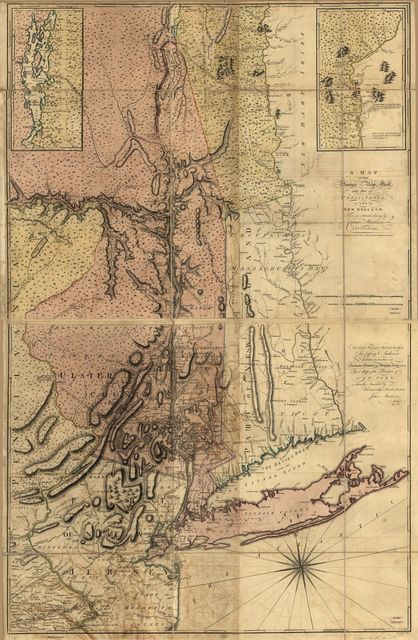 A map of the Province of New York, with part of Pensilvania, and New England,