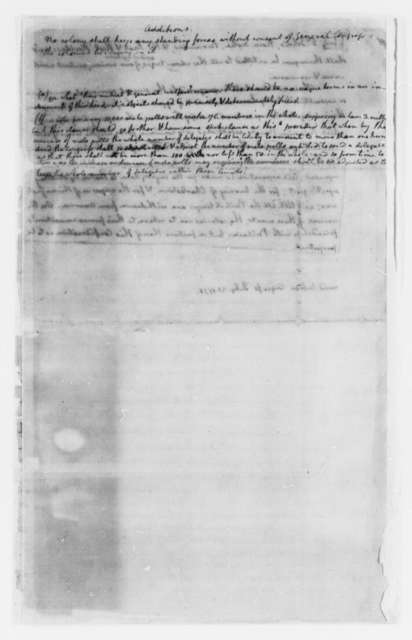 "Benjamin Franklin, May-July 1775, Thomas Jefferson's Copy of ""Articles of Confederation and Perpetual Union""; Draft and Incomplete Printed Copy"