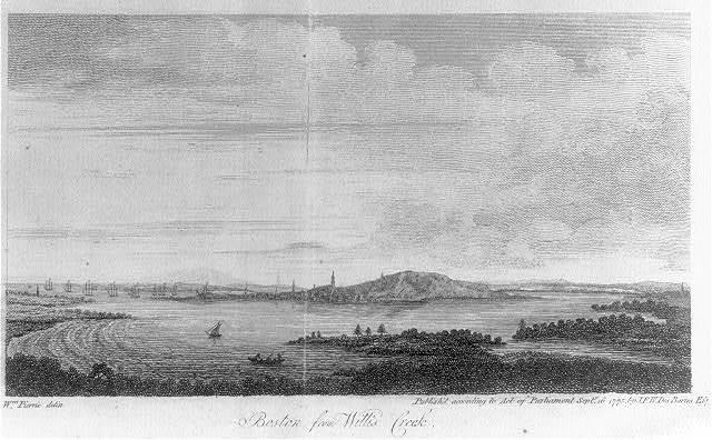 Boston from Willis Creek / Wm. Pierre delin.