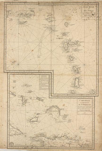 Carte réduite des îles Antilles, au nord du 13me.degré de latitude.