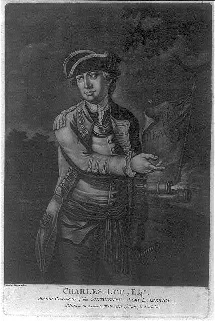 Charles Lee, Esq'r. - major general of the Continental Army in America / Thomlinson pinxt.