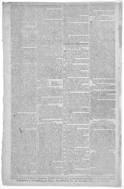 Dunlap's Pennsylvania Packet or, The General Advertiser.