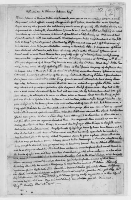 Edmund Pendleton to Thomas Jefferson, November 16, 1775, Skirmishes with the British at Hampton, Norfolk, and Jamestown, Virginia