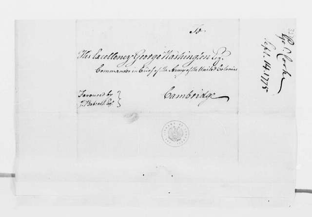 George Washington Papers, Series 4, General Correspondence: Nicholas Cooke to George Washington, September 14, 1775