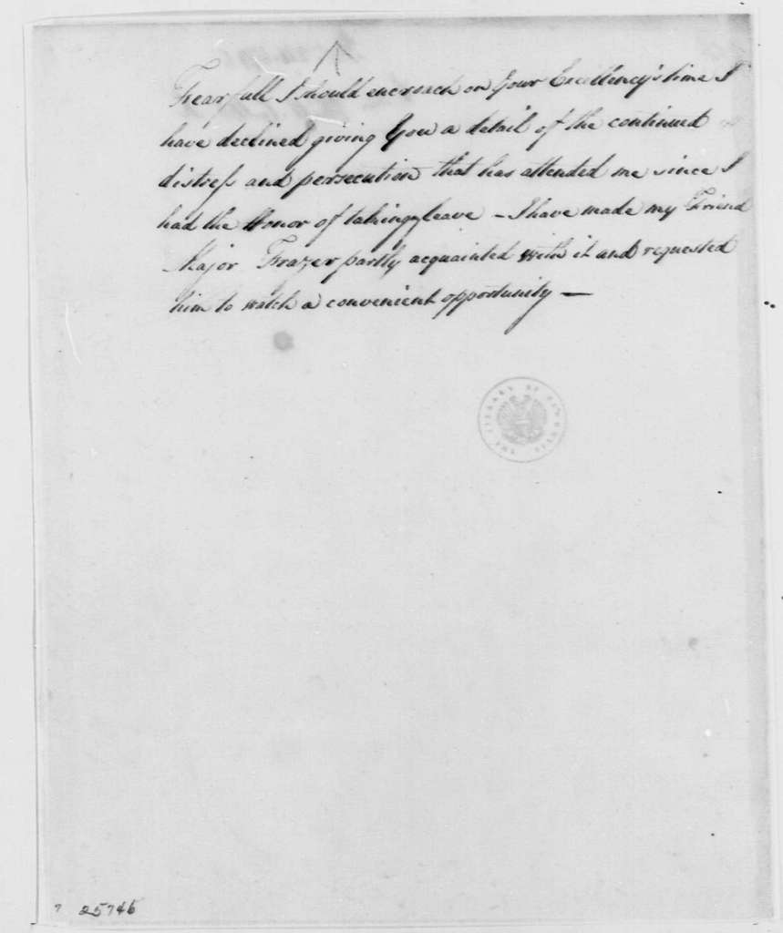 George Washington Papers, Series 4, General Correspondence: Phillip Callbeck to George Washington, December 24, 1775