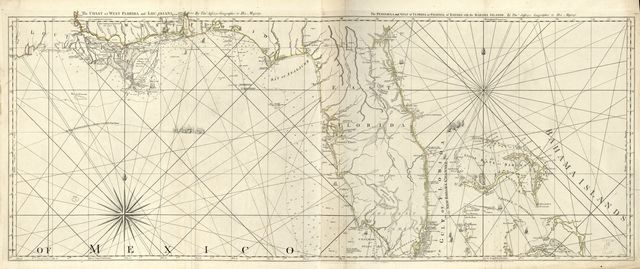 The coast of West Florida and Louisiana. The Peninsula and Gulf of Florida or Channel of Bahama with the Bahama Islands.