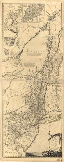 The provinces of New York, and New Jersey; with part of Pensilvania, and the province of Quebec.