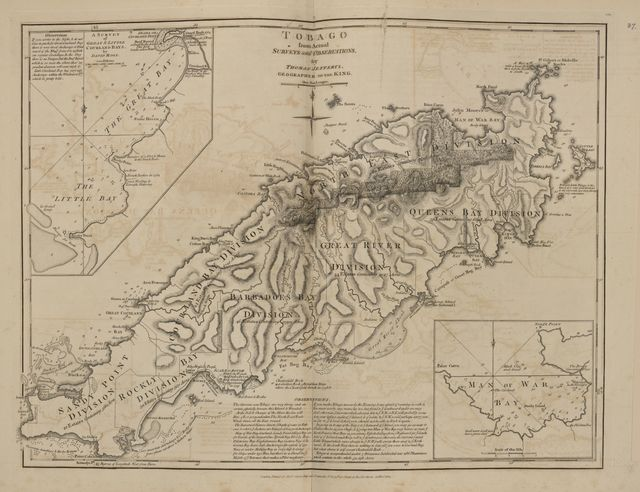 The West-India atlas, or, A compendious description of the West-Indies : illustrated with forty correct charts and maps, taken from actual surveys : together with an historical account of the several countries and islands which compose that part of the world, their discovery, situation, extent, boundaries, product, trade, inhabitants, strength, government, religion, &c. /