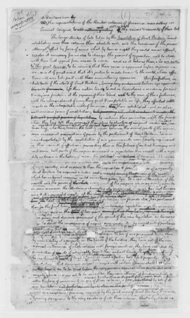Thomas Jefferson, July 6, 1775, Continental Congress Declaration of Causes for Taking Up Arms; Drafts