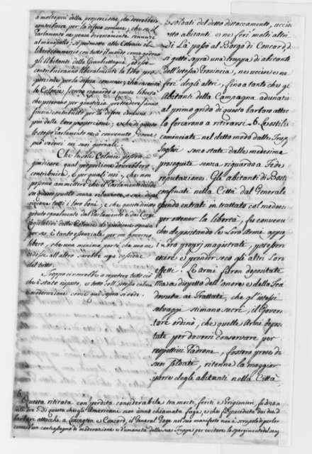 Thomas Jefferson, July 6, 1775, Continental Congress Declaration of Causes for Taking Up Arms; in Italian